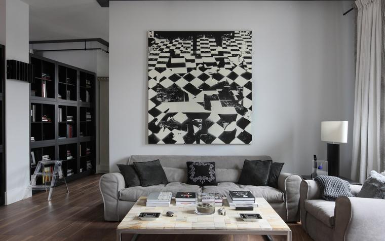 интерьер гостиной - фото № 48266