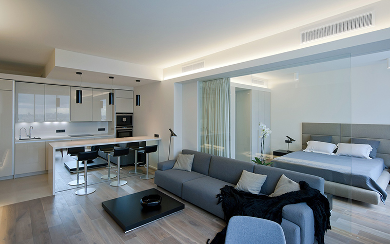 Фото № 45735 гостиная  Квартира