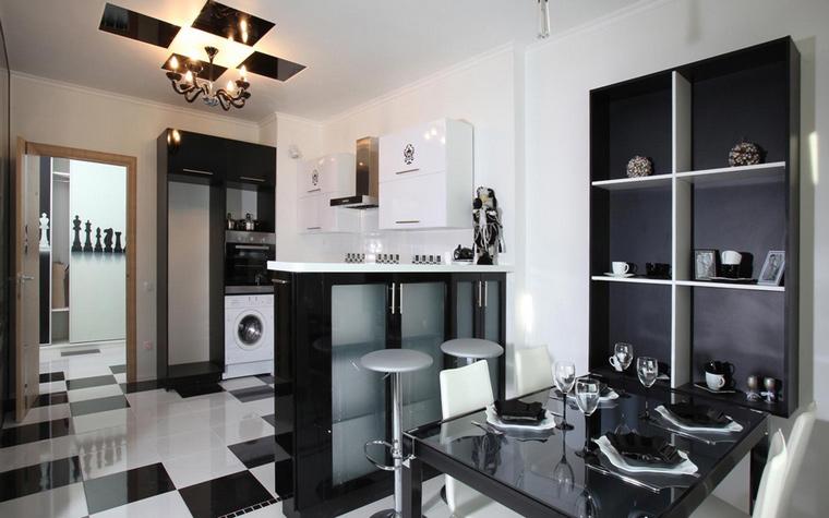 Фото интерьеров чёрных кухонь
