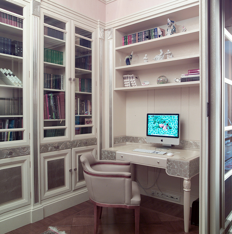 Фото № 46832 кабинет библиотека  Квартира