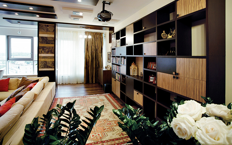 Квартира. гостиная из проекта , фото №47003