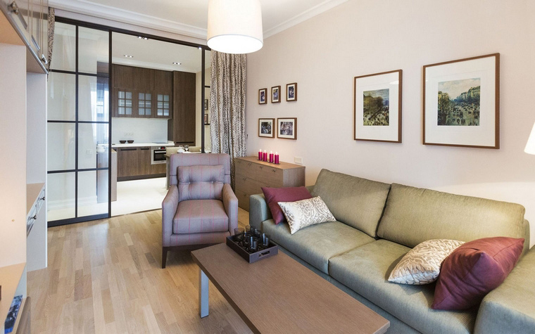Квартира. гостиная из проекта , фото №47969