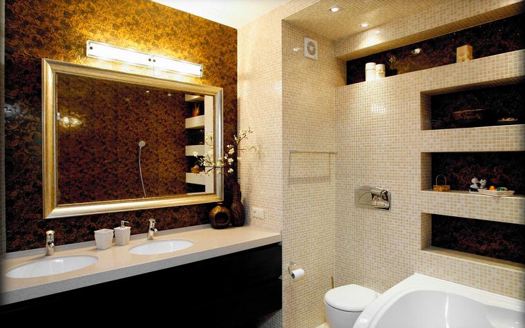 Квартира. ванная из проекта , фото №48025