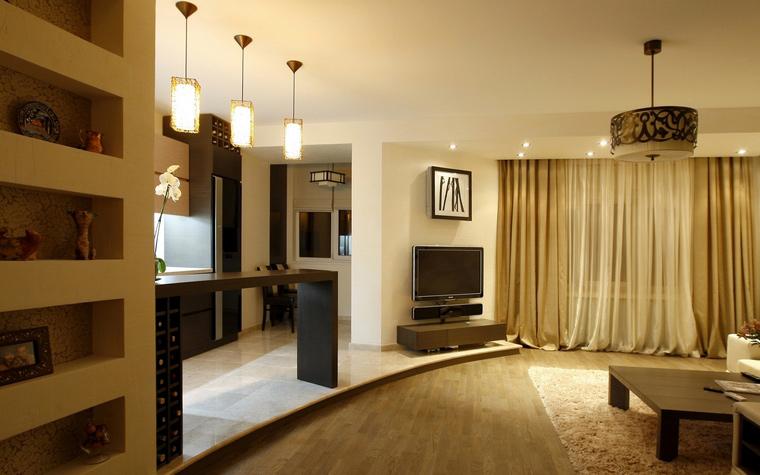 Квартира. гостиная из проекта , фото №48018