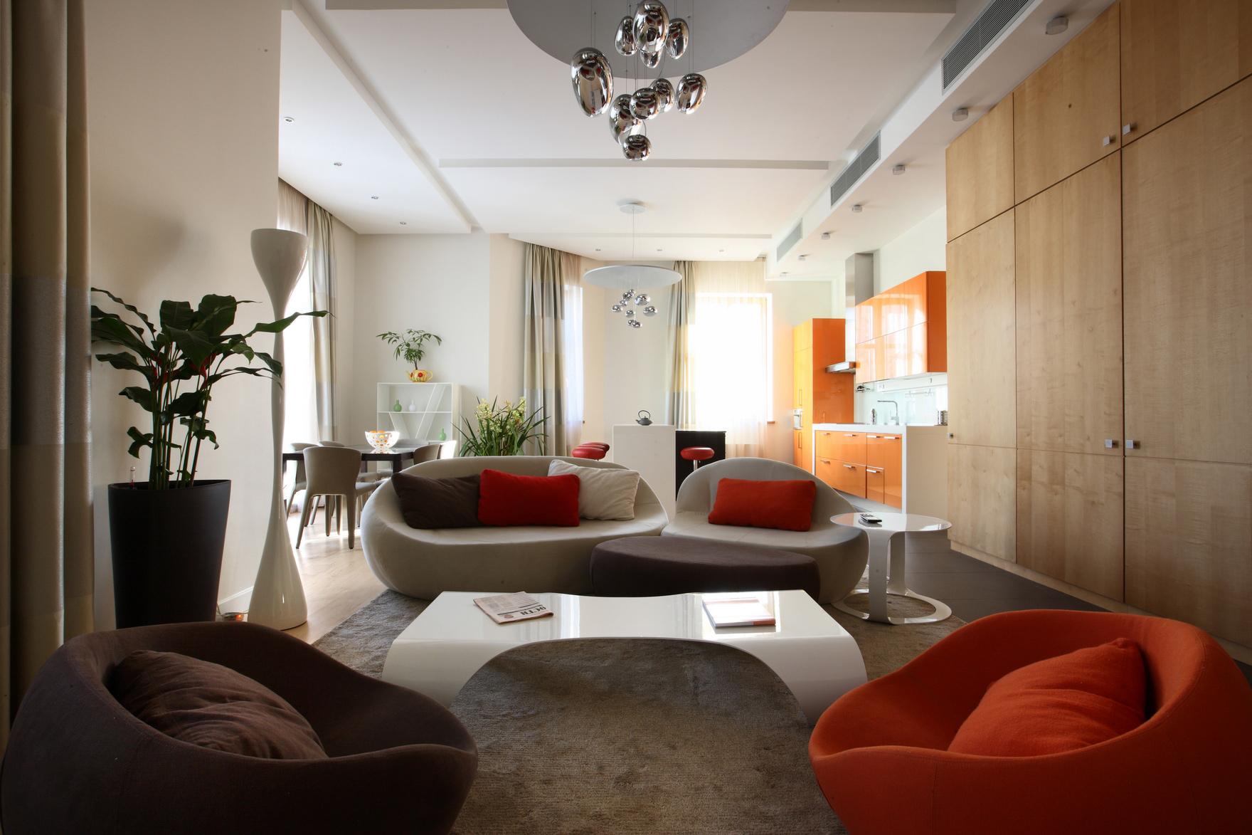 интерьер гостиной - фото № 48456