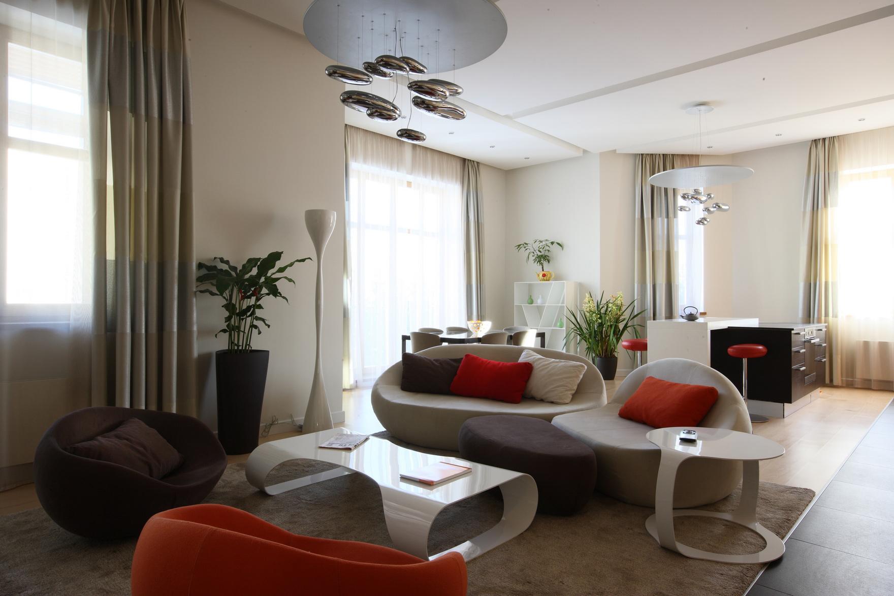 интерьер гостиной - фото № 48457