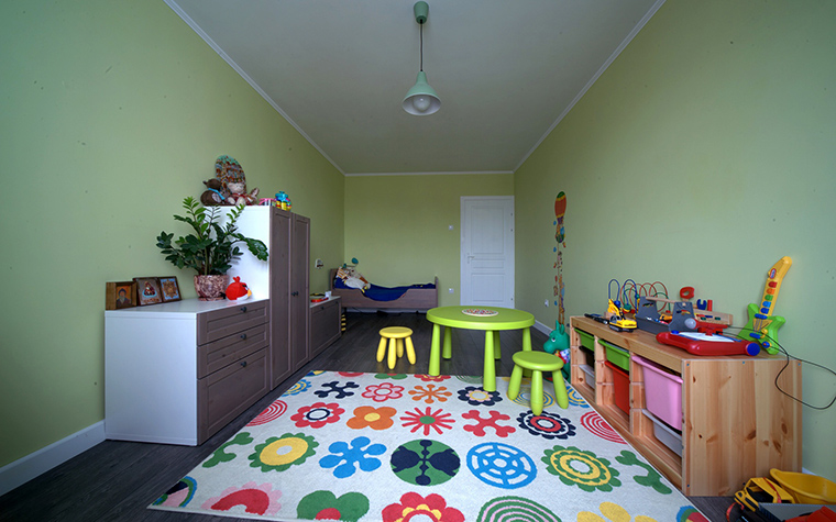 Интерьер в зелёном цвете