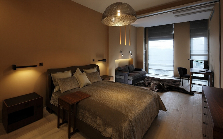 Квартира. спальня из проекта , фото №50844