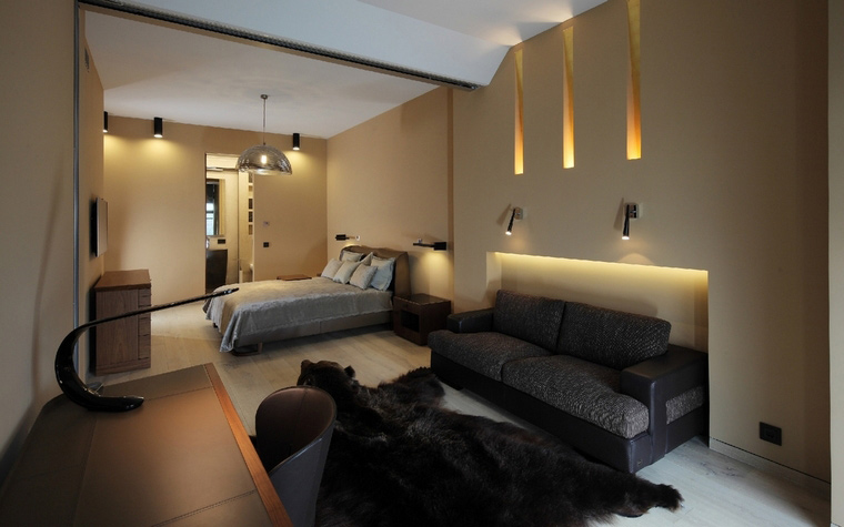 Квартира. спальня из проекта , фото №50845