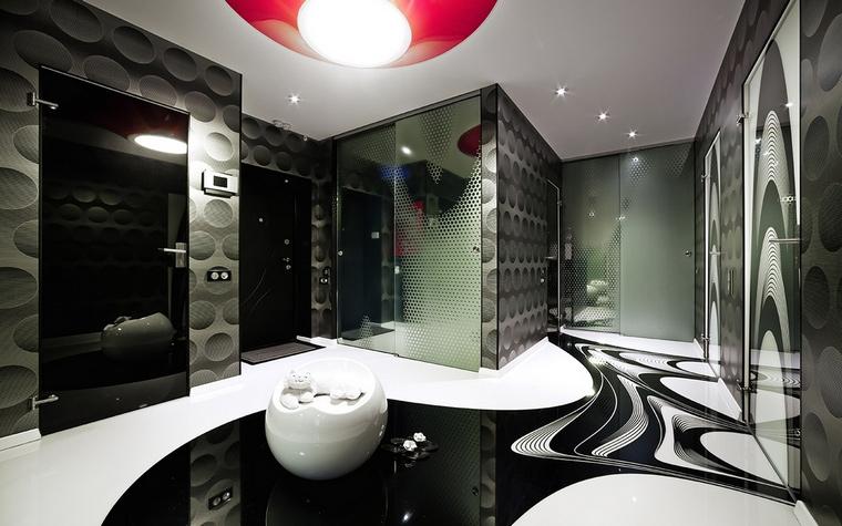 <p>Автор проекта:   Dmytro Aranchii Architects</p> <p>Хай-тек с элементами необарокко - такое тоже может быть!</p>