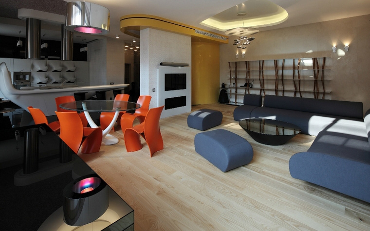Квартира. гостиная из проекта , фото №50854
