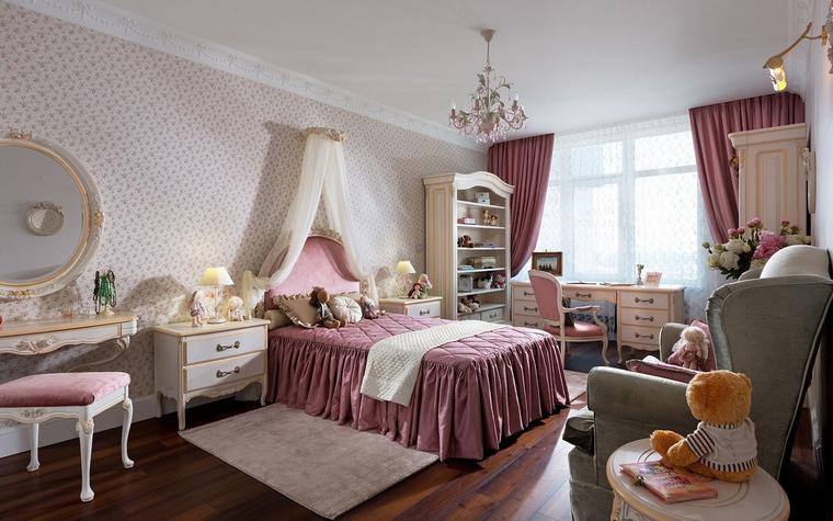 <p>Автор проекта: Алеся Сахно</p> <p><a href=http://www.360.ru/Catalog/mebel/detskaja-mebel/garnitury-dlya-detskoi/detskie-garnitury-ot-7-do-17-let/>Мебель</a> и декор этой детской комнаты позволяет ее владелице чувствовать себя прекрасной принцессой.&nbsp;</p>