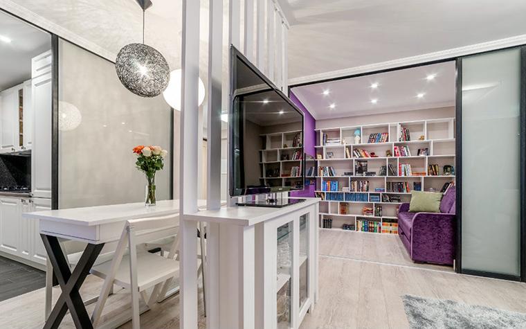 Квартира. библиотека из проекта , фото №52468