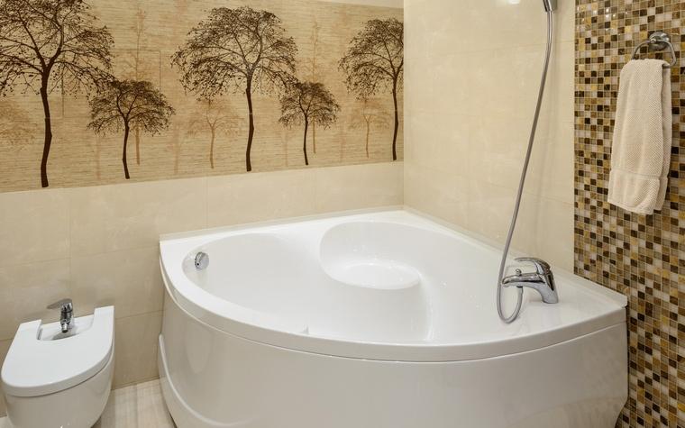 Дизайн угловой ванны в интерьере