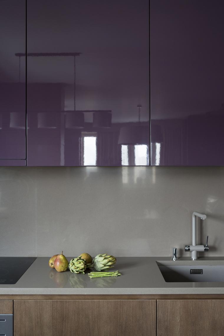 Кухни сиреневого цвета