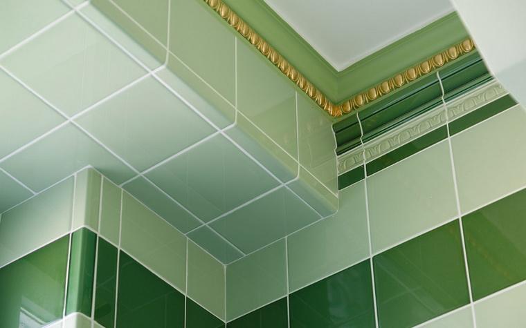 12 зеленых ванных комнат