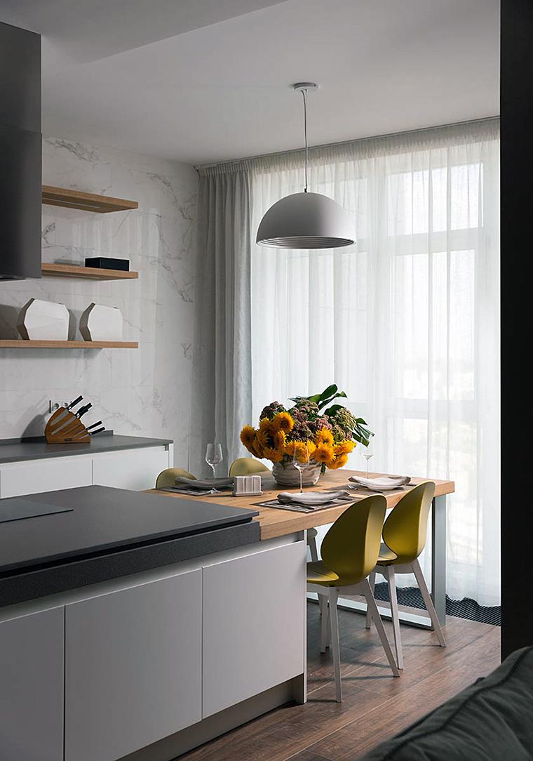 Фото № 56341 кухня  Квартира