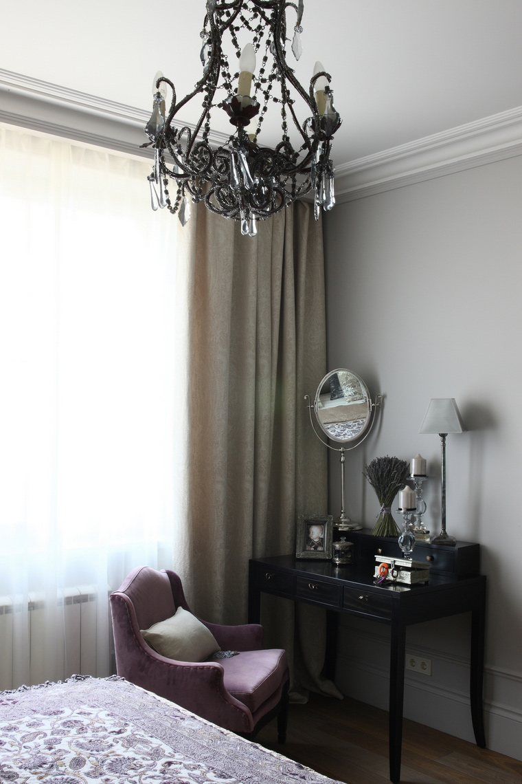 Квартира. спальня из проекта , фото №57602