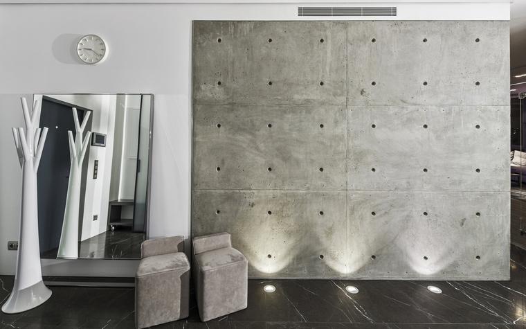 <p>Автор проекта:   KarenMan architectural solutions</p> <p>Стиль с привкусом хай-тека делает прихожую очень модной, современной...</p>