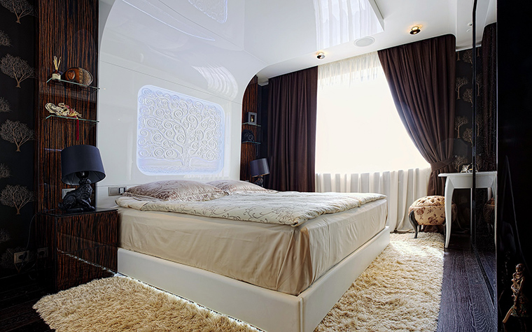Квартира. спальня из проекта , фото №57926