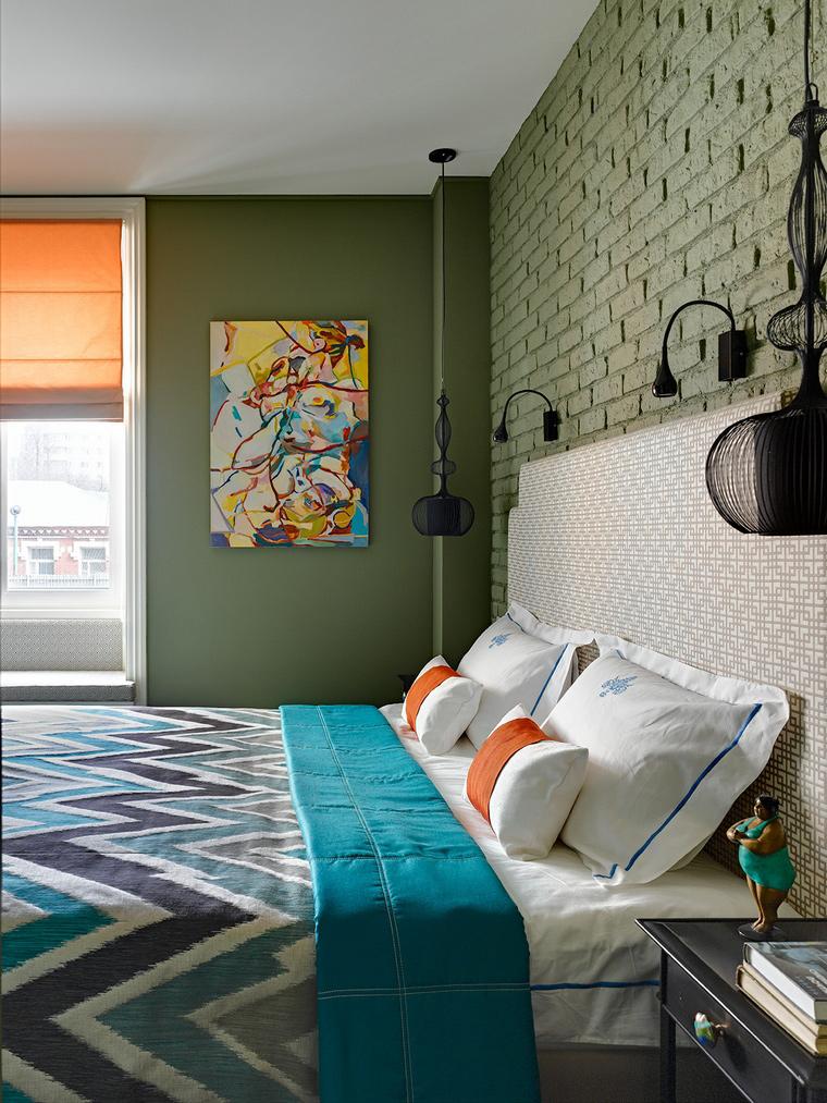 интерьер спальни - фото № 58101