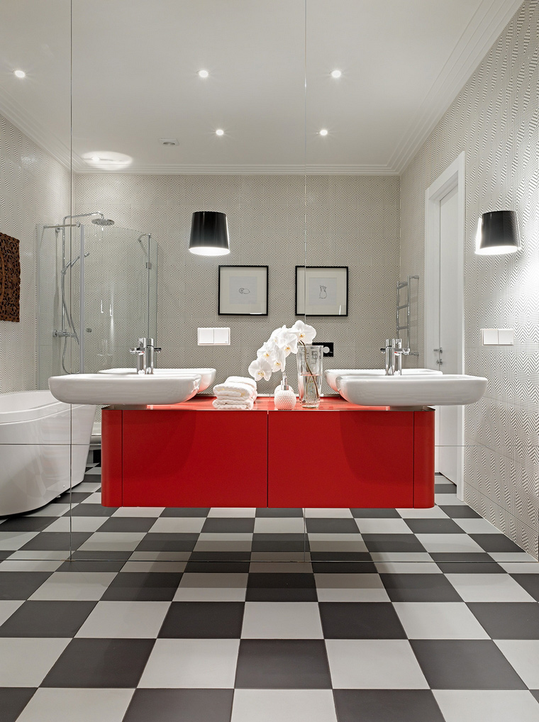 Квартира. ванная из проекта , фото №58462