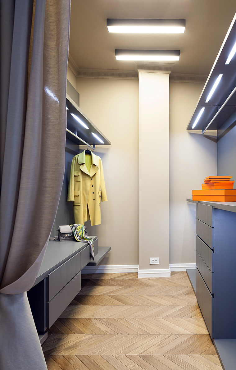 Фото № 59864 гардеробная  Квартира