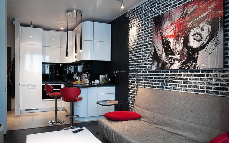 Квартира. гостиная из проекта , фото №60215