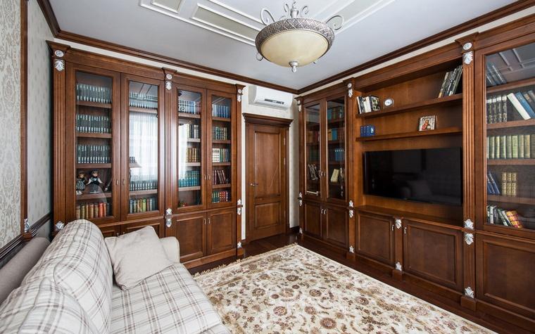 Квартира. библиотека из проекта , фото №60794