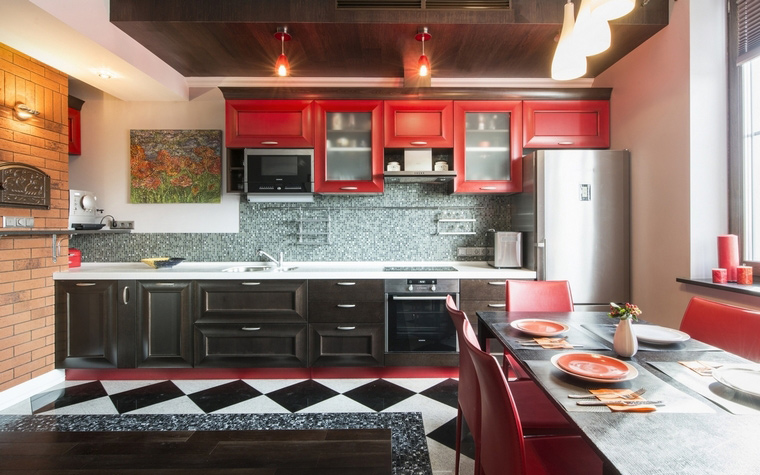 Квартира. кухня из проекта , фото №63011