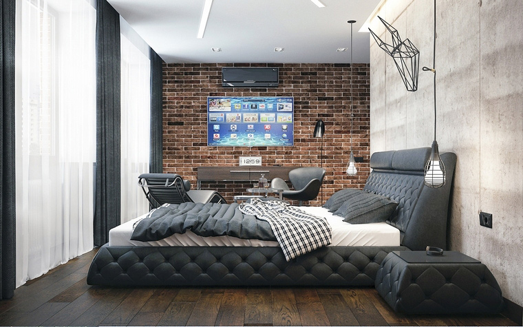 интерьер спальни - фото № 65215