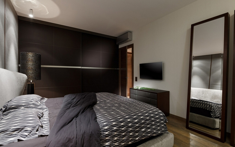 Квартира. спальня из проекта , фото №68146