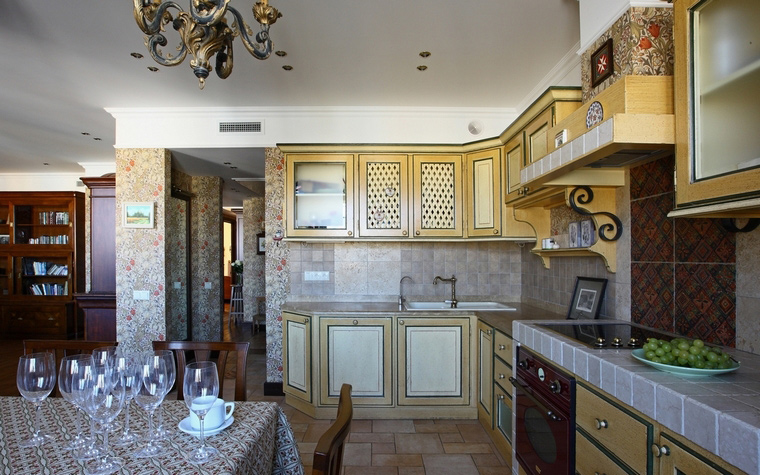 Фото № 68337 кухня  Квартира