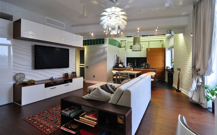 Квартира. гостиная из проекта , фото №69517