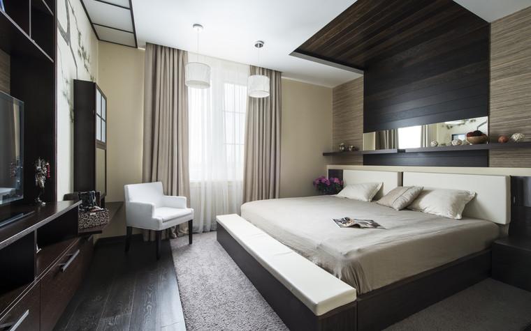Квартира. спальня из проекта Сокольники, фото №74850