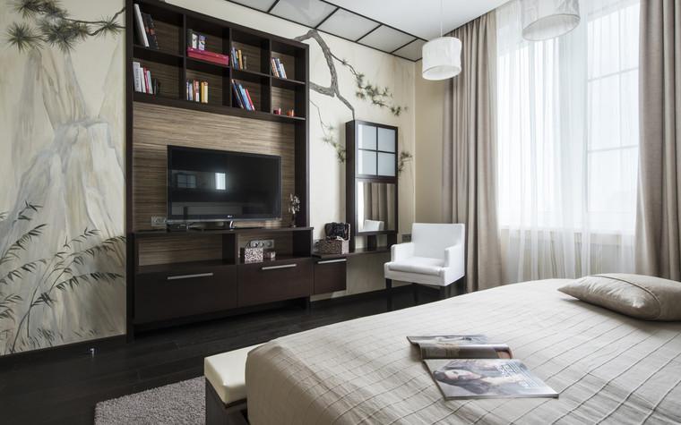 Квартира. спальня из проекта Сокольники, фото №74851