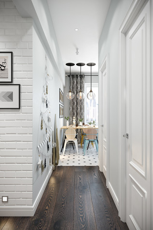 Квартира. коридор из проекта Квартира в скандинавском стиле, фото №75050