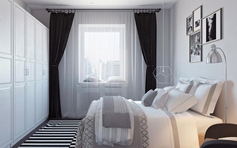 Квартира. спальня из проекта Квартира в скандинавском стиле, фото №75051