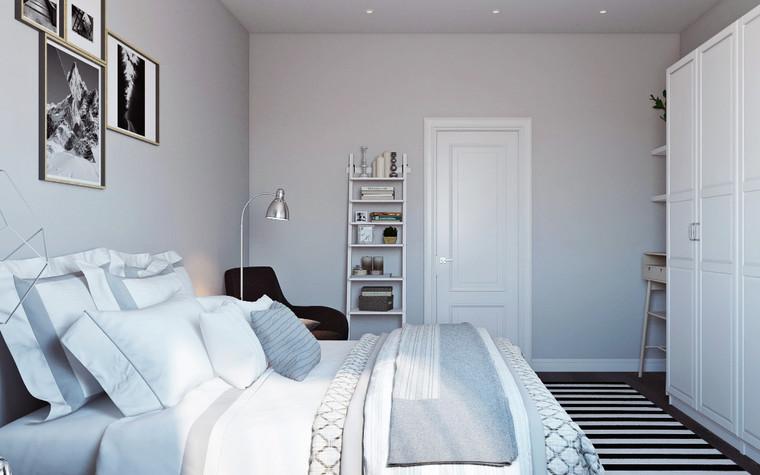 Квартира. спальня из проекта Квартира в скандинавском стиле, фото №75052