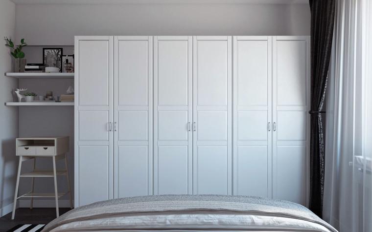 Квартира. спальня из проекта Квартира в скандинавском стиле, фото №75053