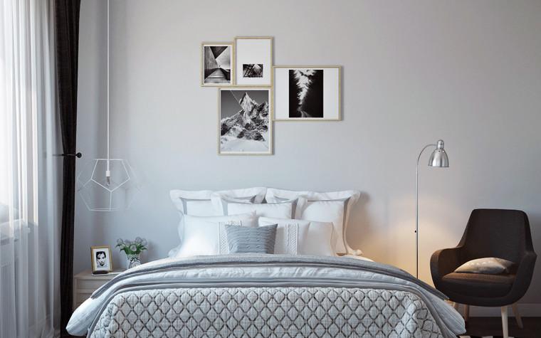 Квартира. спальня из проекта Квартира в скандинавском стиле, фото №75054