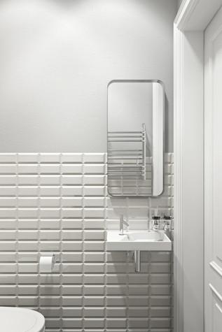 Квартира. ванная из проекта Квартира в скандинавском стиле, фото №75058