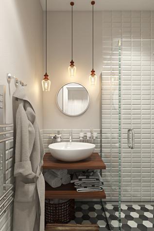 Квартира. ванная из проекта Квартира в скандинавском стиле, фото №75059