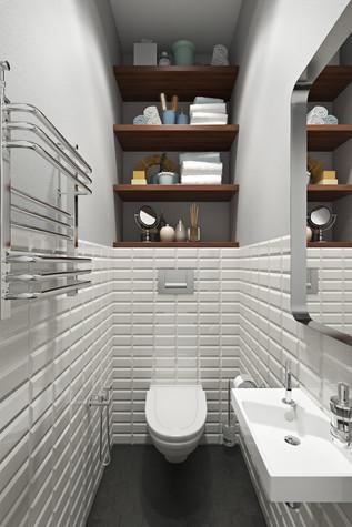 Квартира. ванная из проекта Квартира в скандинавском стиле, фото №75060