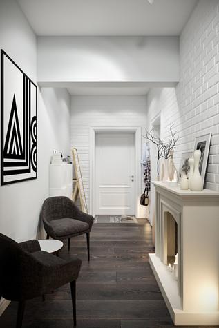Квартира. прихожая из проекта Квартира в скандинавском стиле, фото №75034