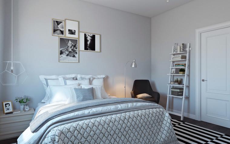 Квартира. спальня из проекта Квартира в скандинавском стиле, фото №75056