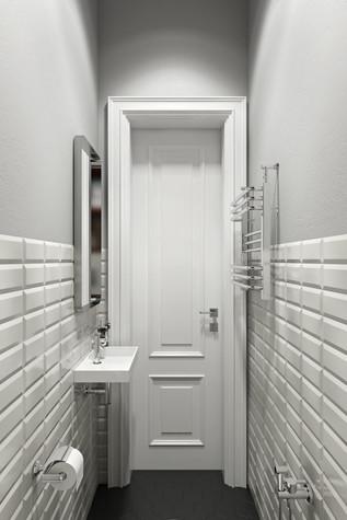 Квартира. ванная из проекта Квартира в скандинавском стиле, фото №75061