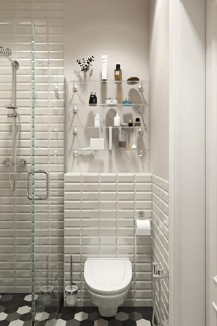 Квартира. ванная из проекта Квартира в скандинавском стиле, фото №75062