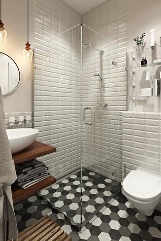 Квартира. ванная из проекта Квартира в скандинавском стиле, фото №75063