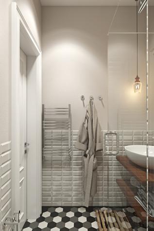 Квартира. ванная из проекта Квартира в скандинавском стиле, фото №75064